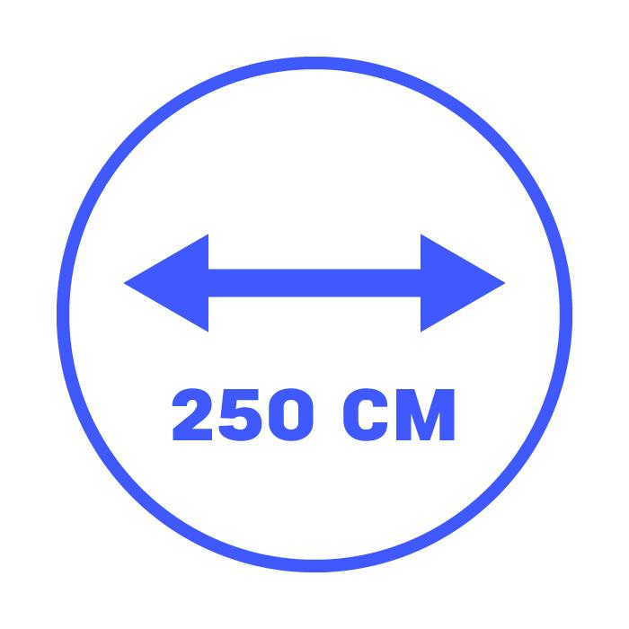 250 cm