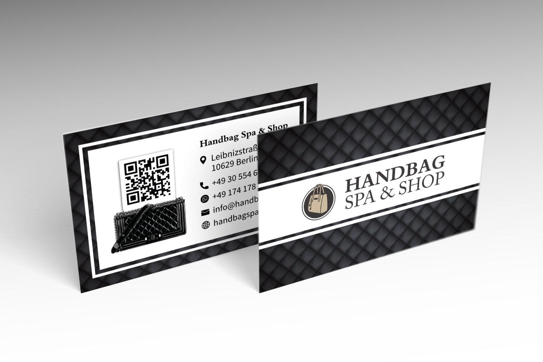 Handbagspa Visitenkarten Design