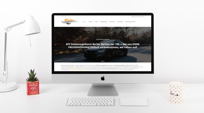 Zulassung website design